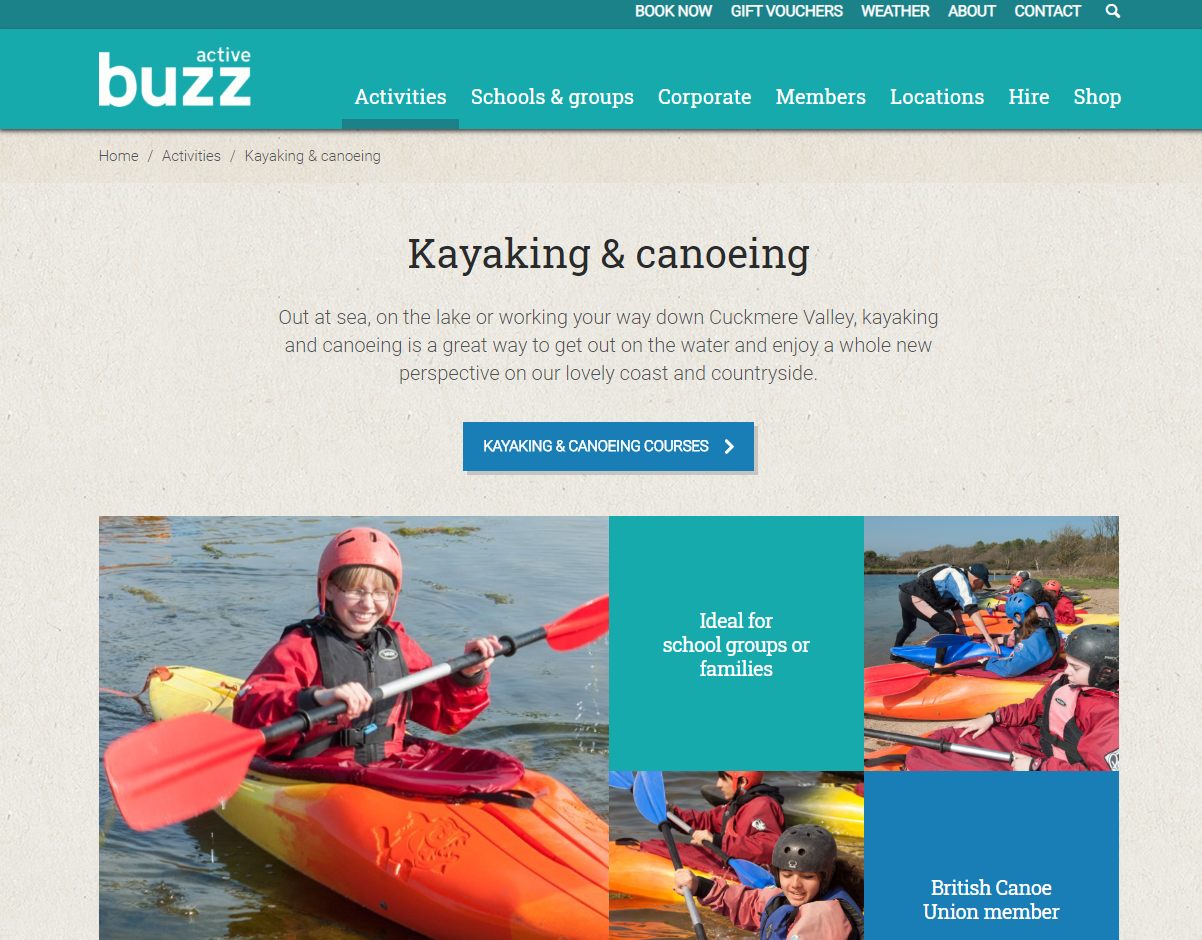 Buzz Active boat hire